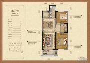 凯旋公馆3室2厅2卫0平方米户型图