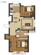中国城建伦敦公元2室1厅1卫72平方米户型图