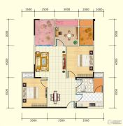 中盛・财富中心4室2厅2卫96平方米户型图