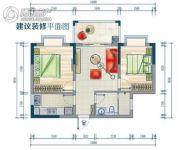鑫海大厦2室2厅1卫70--78平方米户型图