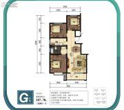 金山九泷湾3室2厅1卫107平方米户型图