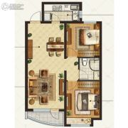 金地棕榈岛2室2厅1卫95平方米户型图