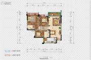 希望・玫瑰园3室2厅2卫107平方米户型图