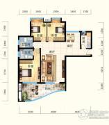 怡景江南3室2厅2卫122平方米户型图