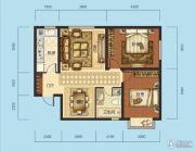 海成天山绿洲四期2室2厅1卫86平方米户型图