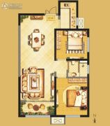 开元・第一城2室2厅1卫85平方米户型图