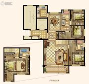 京都悦府4室2厅3卫149平方米户型图
