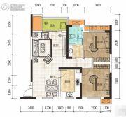 华侨假日中心2室2厅1卫89平方米户型图