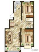 吉森漫桦林2室2厅1卫90平方米户型图
