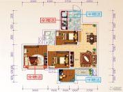 星光大道4室2厅2卫97平方米户型图