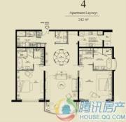 北京四季世家2室2厅2卫242平方米户型图