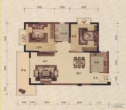 蓝海名都2室2厅1卫83平方米户型图