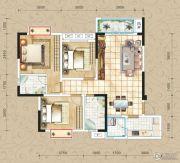 凤琴岚湾3室2厅2卫105平方米户型图