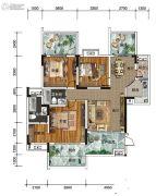 南方格林雅墅3室2厅2卫112平方米户型图