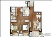 万科金域蓝湾3室2厅1卫105平方米户型图