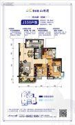 碧桂园・山湖湾3室2厅1卫90--94平方米户型图