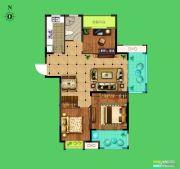 荣盛花语城3室2厅1卫106平方米户型图