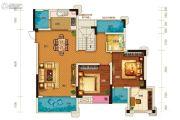 两江春城2室2厅1卫74平方米户型图