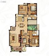 冠城大通蓝湾5室2厅2卫162平方米户型图