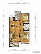 长春净月万科城2室2厅1卫90平方米户型图