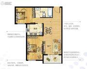 越秀星汇金沙2室2厅1卫79--84平方米户型图