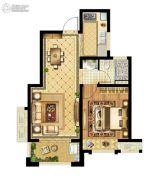 启迪协信・无锡科技城1室2厅1卫60平方米户型图