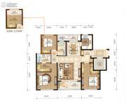 永强朗城公馆3室2厅2卫117平方米户型图