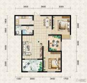 翱达公馆3室2厅1卫91平方米户型图