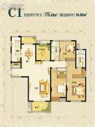 曲江千林郡4室2厅2卫179平方米户型图