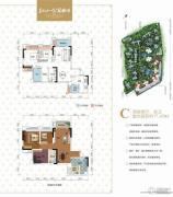 美利山公园城市2室2厅1卫77平方米户型图