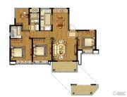 融创玉兰公馆4室2厅2卫129平方米户型图