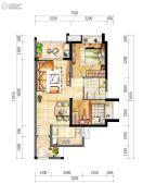 时代廊桥(增城)2室2厅1卫68平方米户型图