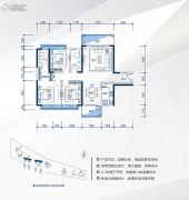 家和时代花园3室2厅2卫0平方米户型图