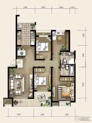 金东城世家4室2厅2卫128平方米户型图