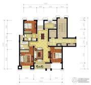 神鹰鼎园3室2厅1卫117平方米户型图