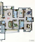 花都艺墅4室2厅3卫209平方米户型图