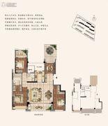 建发泱誉3室2厅2卫151平方米户型图