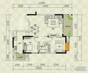兴茂盛世国际2室0厅1卫71平方米户型图