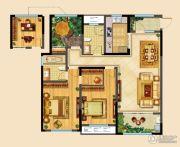 高成天鹅湖3室2厅2卫139平方米户型图