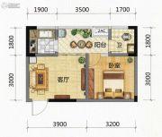 九腾1街区1室1厅1卫37平方米户型图