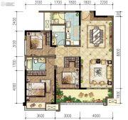 旭辉东原长河原3室2厅2卫0平方米户型图