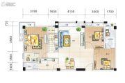 凯润嘉园3室2厅2卫125平方米户型图