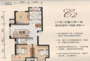 英伦华府3室2厅2卫108--109平方米户型图