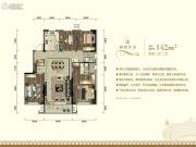 城建万科翡翠书院4室2厅2卫142平方米户型图