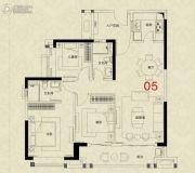 广州绿地城3室2厅2卫110平方米户型图