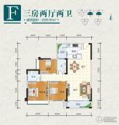 天元海天新城3室2厅2卫100平方米户型图