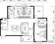 保利城3室2厅2卫152平方米户型图
