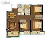 融创玉兰公馆3室2厅1卫88平方米户型图