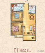 中迈红东方广场2室2厅1卫83--89平方米户型图