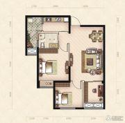 美岸观邸2室2厅1卫73平方米户型图